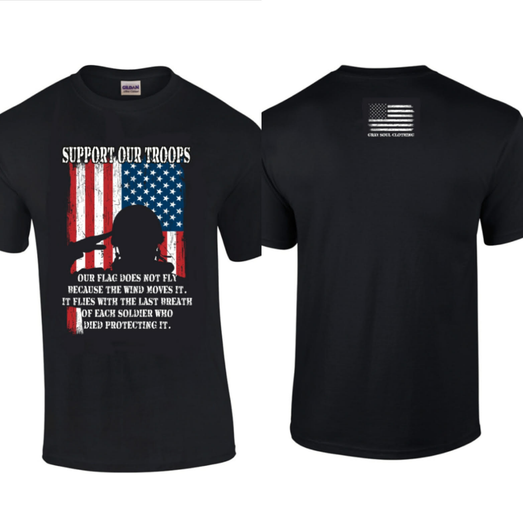 Support Our Troops T-Shirt | Military Tees | Military Proud T-Shirts