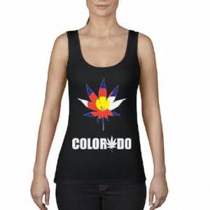 Colorado Flag Marijuana Leaf Tank Top