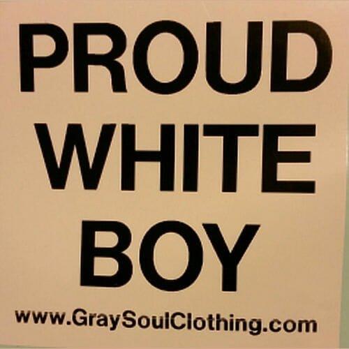 Proud White Boy Sticker