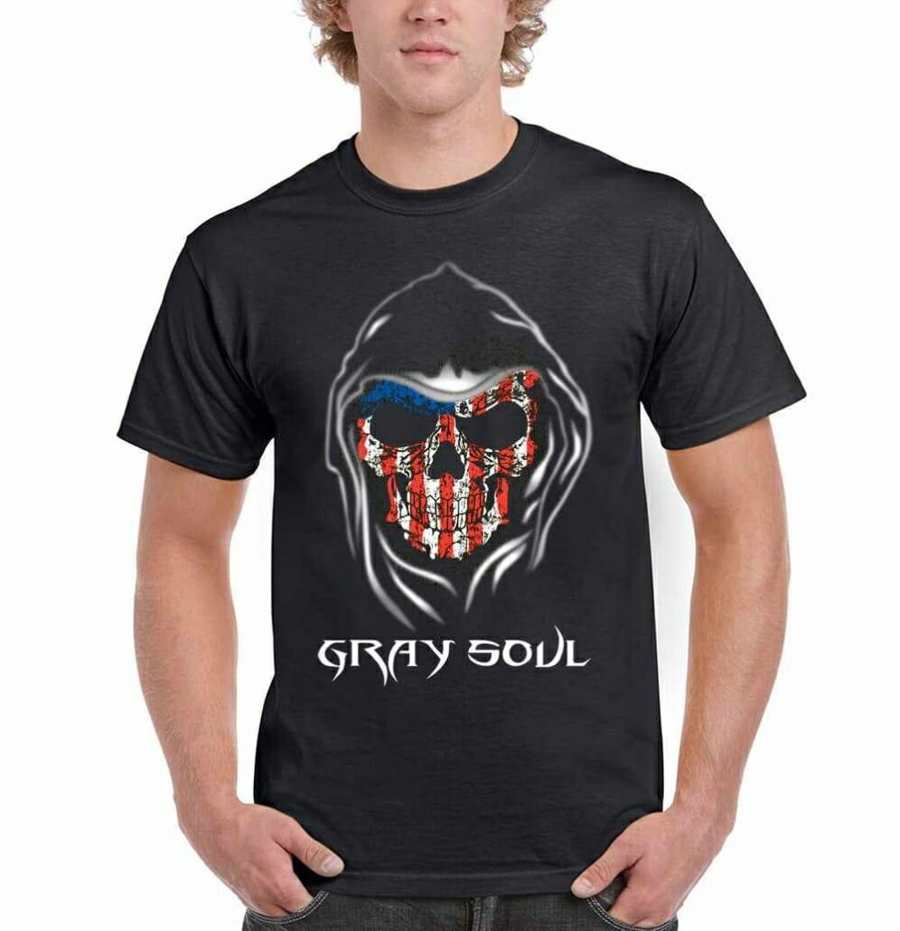 American Flag Reaper T Shirt