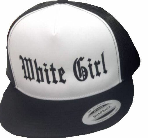 White Girl Snap Back Hat