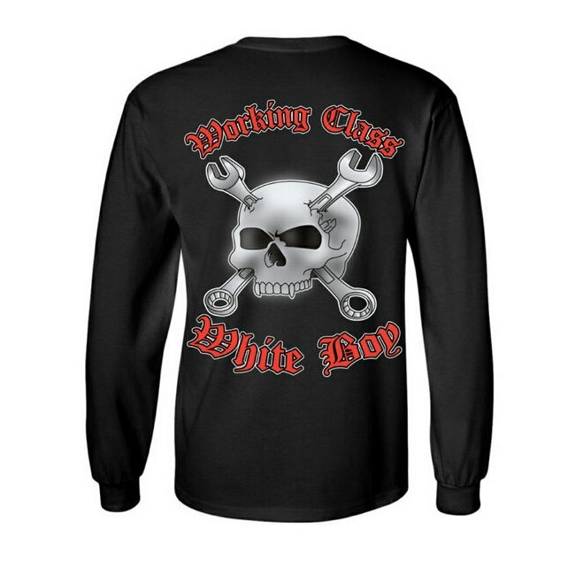 Working Class Whiteboy Long Sleeve Shirt | Gray Soul Clothing