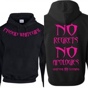 proud white girl hoodie